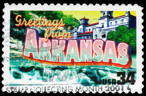 Vintage Arkansas Stamp