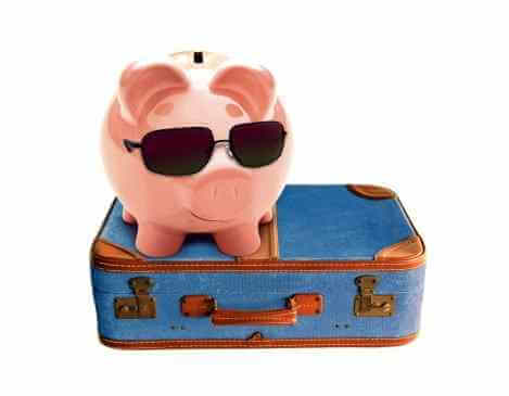 Piggy Bank and Travel Suitcase