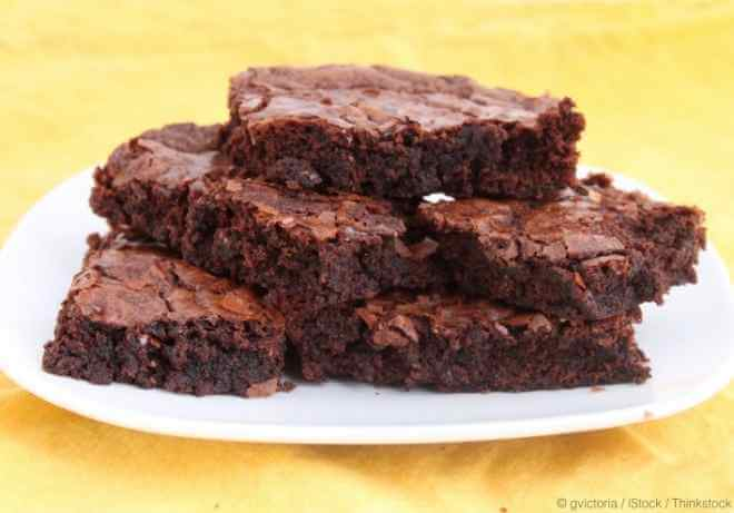 Plate of Chocolate Brownies
