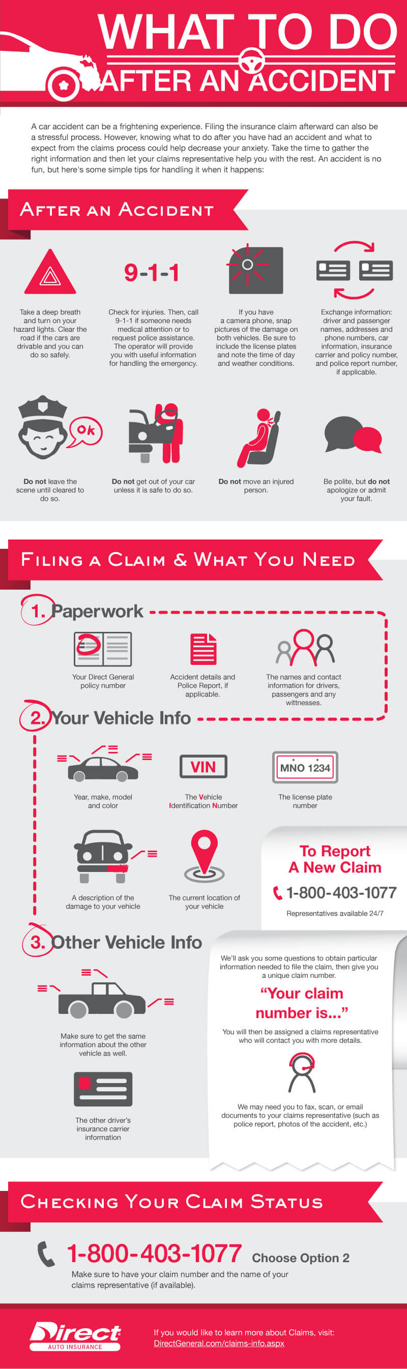 Direct General Auto Insurance >> What to Do After a Car Accident | Infographic | Direct Auto & Life Insurance