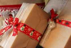 Brown Paper Christmas Gifts