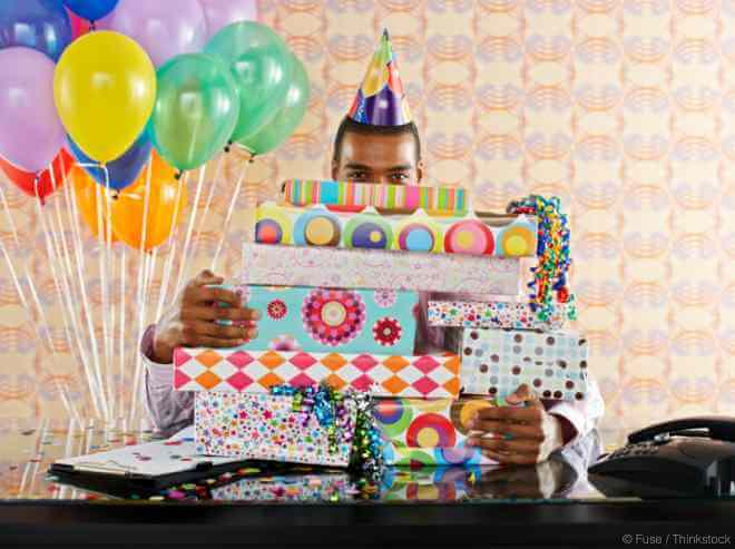 Man With Birthday Presents
