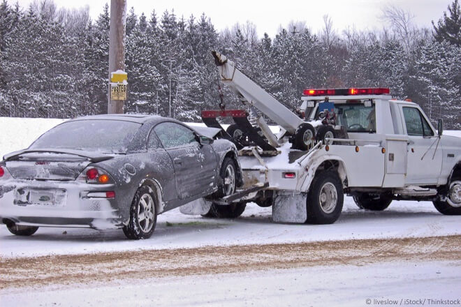car getting towed