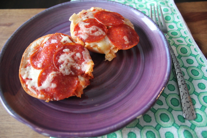 Homemade Mini Pizza Bagels