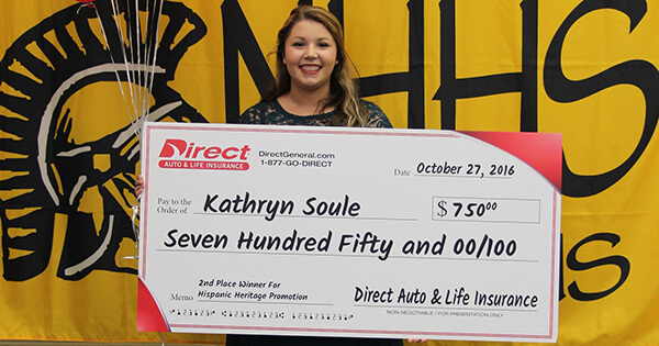 Kathryn Soule, Direct Auto & Life Insurance - 2016 Outstanding High School Student