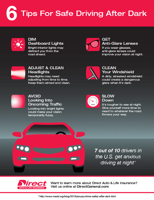 6 Tips for Safe Driving After Dark