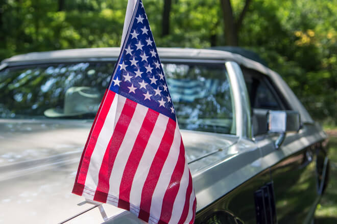 Deck out your car with flags and the right coverage before you hit the road for the Fourth of July.