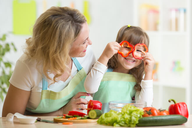 Making after-school snacks gives parents quality time with their kids and some fun!
