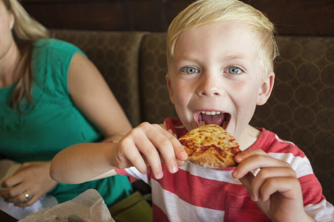Feed your kid with a free slice of pizza