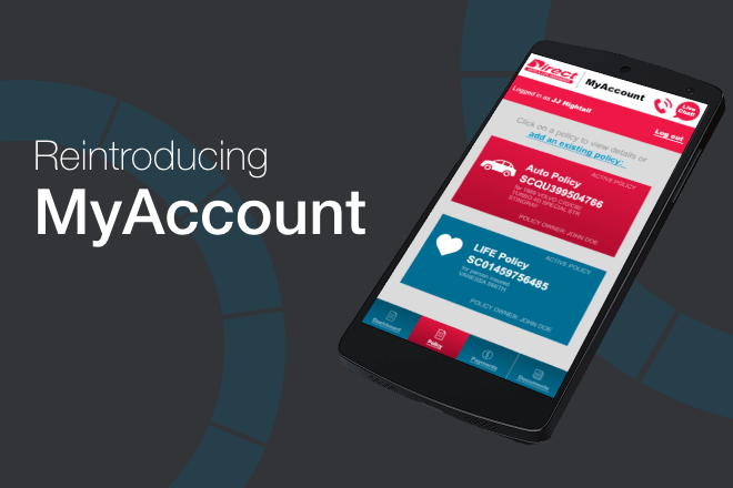 Direct Auto has revamped our MyAccount page.