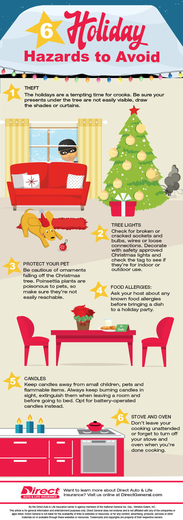 Direct General Auto Insurance >> 6 Holiday Home Hazards to Avoid [INFOGRAPHIC] | Direct ...