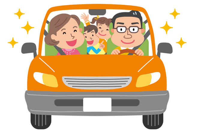 cartoon-family-riding-in-family-sedan