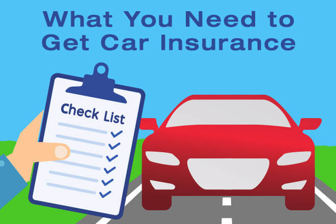 What you Need to Get Car Insurance: Car Insurance Checklist Graphic