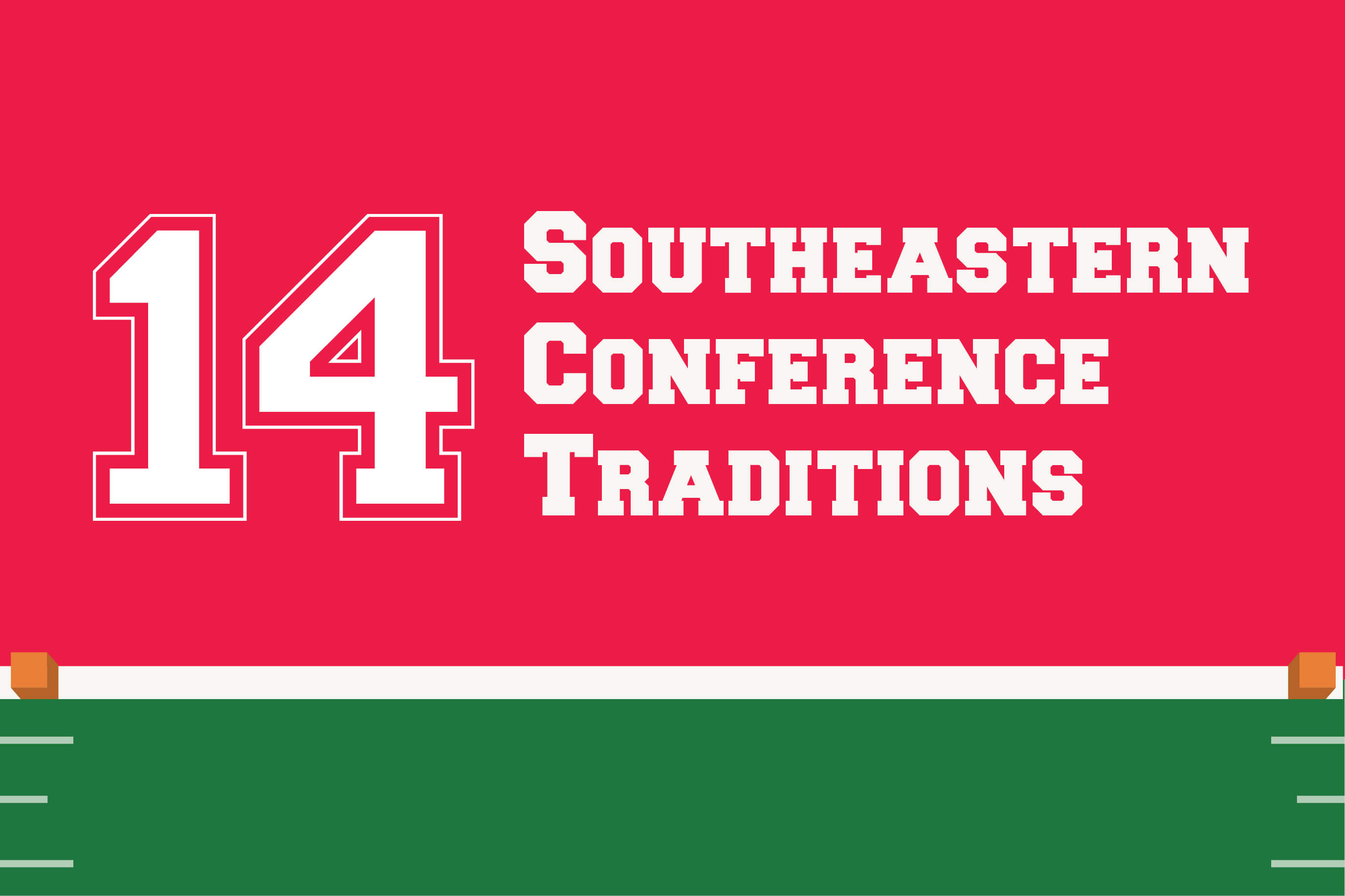 14 Southeastern Conference College Football Traditions infographic feature image