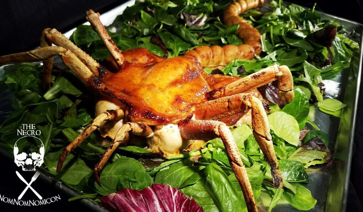 Roasted alien face hugger turkey by Hellen Die