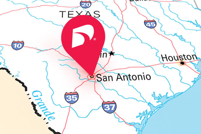 Things to do in San Antonio, TX and marked on map.