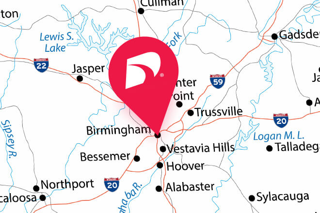 pin on birmingham in alabama map direct auto