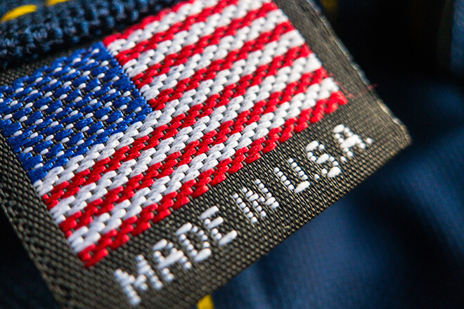 Made in USA tag