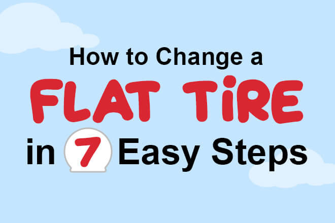 How to change a flat tire in 7 easy steps header