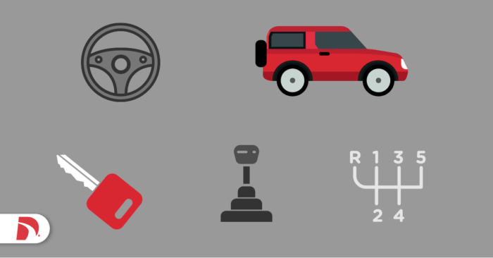 icons related to stick shift