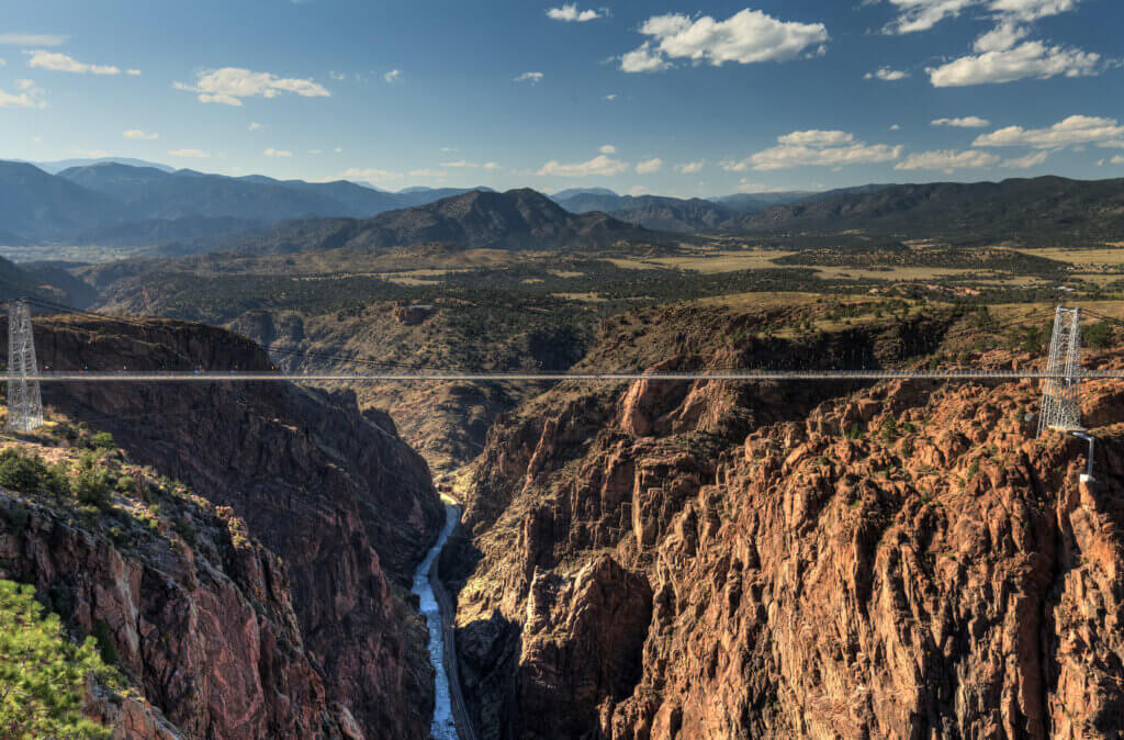 wide view of the royal gorge bridge