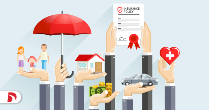 Image with icons indicating different types of insurance you might bundle