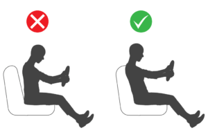 diagram of the correct driving position