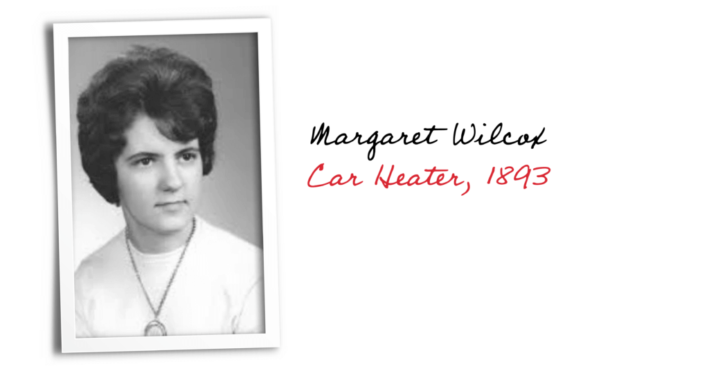 Black and white photo of Margaret Wilcox, inventor of the car heater in 1893