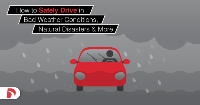 animated image of a red car driving in a thunderstorm