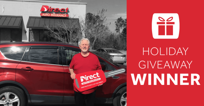 Direct Auto Holiday Giveaway Winner Announcement
