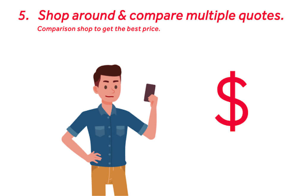 Shop around and compare multiple auto insurance quotes.